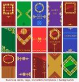 Adreskaartjes, etiketten, uitnodigingenmalplaatjes Stock Foto's