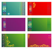 Adreskaartjes, giftmarkeringen, uitnodigingen, enz. templ Royalty-vrije Stock Afbeelding