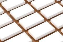 Adreskaartjes leeg model - malplaatje, 3D illustratie Stock Afbeeldingen