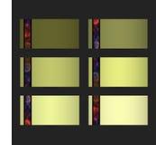 Adreskaartjes met Abstract Patroon Royalty-vrije Stock Afbeeldingen