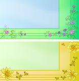 Adreskaartjes met bloemen Royalty-vrije Stock Afbeeldingen