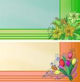 Adreskaartjes met bloemen Royalty-vrije Stock Fotografie