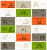 Adreskaartjes met huizen voor uw ontwerp Stock Foto
