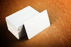 Adreskaartjes met rond gemaakte hoeken Stock Foto's