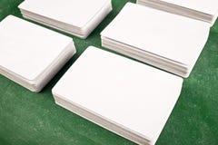 Adreskaartjes met rond gemaakte hoeken Stock Fotografie