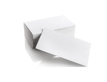 Adreskaartjes op wit Royalty-vrije Stock Foto
