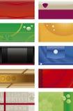 Adreskaartjesachtergronden Royalty-vrije Stock Afbeeldingen