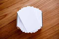 Adreskaartjestapel Stock Foto
