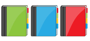 Adress book icons Stock Photography