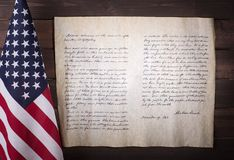 Adress för ` s Gettysburg för president Abraham Lincoln Arkivbild