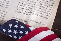 Adress för ` s Gettysburg för president Abraham Lincoln Arkivfoton