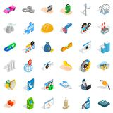 Adress icons set, isometric style. Adress icons set. Isometric style of 36 adress vector icons for web isolated on white background Royalty Free Stock Image