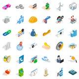 Adress icons set, isometric style Royalty Free Stock Image