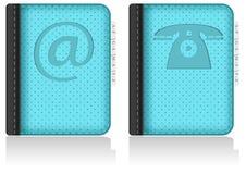 adressbook笔记本电话号码簿向量 免版税库存照片