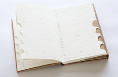 Adressbuch mit Ballpoint Stockfotos