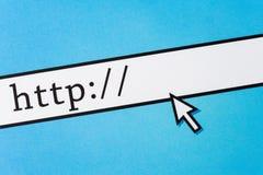 Adresse blanc de Web Photographie stock