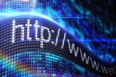 Adresse de HTTP sur l'écran numérique Images libres de droits
