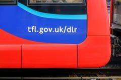 Adresse de site Web de DLR du côté d'un chariot de DLR photographie stock libre de droits
