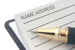 Adresse et annuaire images libres de droits