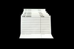 Adresse u. Telefon-Buch Lizenzfreie Stockfotos