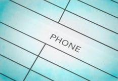 Adresse u. Telefonbuch Lizenzfreie Stockfotos