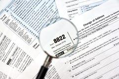 Adressenänderung 8822 Form Lizenzfreie Stockfotografie