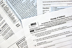 Adressenänderung 8822 Form Stockfotos