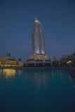 Adressen i stadens centrum Dubai Fotografering för Bildbyråer