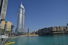 Adressen i stadens centrum Dubai Royaltyfri Bild