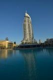 Adressen i stadens centrum Dubai Arkivfoto