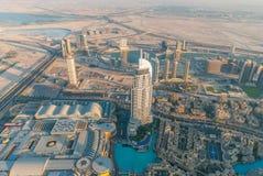 Adressen i stadens centrum Dubai Arkivbilder