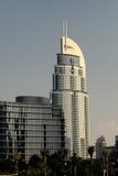 Adressen-im Stadtzentrum gelegenes Dubai-Hotel Stockbild