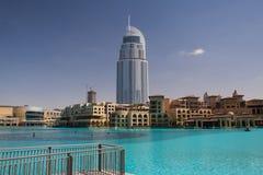 Adresshotellet i den i stadens centrum Dubaien Arkivfoto