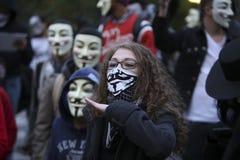 Adressieren der Million Maske März Stockbild