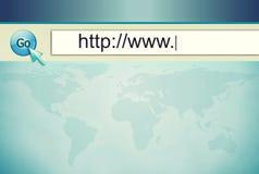 adresu komputerowy internetów ekran Zdjęcia Stock