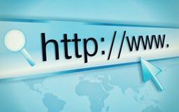 adresu komputerowy internetów ekran Fotografia Stock