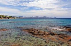 Adrets-de-l'Estrerel y línea mediterránea de la costa Foto de archivo libre de regalías