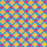 Adrettes colorpop nahtloses Muster Helle Farbeeinladung karte Hintergrund retro Papierdruck Gewebedesign Websitehintergrund Lizenzfreies Stockbild