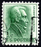 Adrew杰克逊美国邮票 库存照片