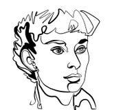 Adrey Hepburn comme le portrait de femme images libres de droits