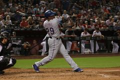 Adrián Beltré. 3rd basemen for the Texas Rangers at Chase Field in Phoenix Arizona USA August 13,2018 stock photography