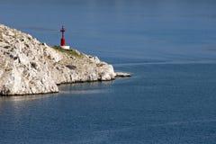 Adriático azul cerca de la isla de Krk Imagen de archivo libre de regalías