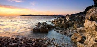 Adriático rocoso Imagen de archivo