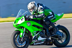 Adria Araujo pilot of Kawasaki Ninja Cup Royalty Free Stock Images
