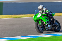 Adria Araujo pilot of Kawasaki Ninja Cup Royalty Free Stock Photography