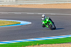 Adria Araujo pilot of Kawasaki Ninja Cup Royalty Free Stock Image