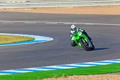 Adria Araujo-Pilot von Kawasaki Ninja Cup Lizenzfreies Stockbild