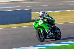 Adria Araujo-Pilot von Kawasaki Ninja Cup Stockfotos