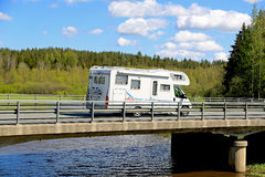 Adria Coral Motorhome on the Road Stock Images