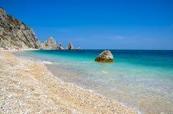 Adria devido de riviera del Conero Numana Marche Ancona da praia de Sorelle Imagem de Stock Royalty Free